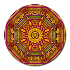 Sunshine Mandala And Other Golden Planets Round Mousepads