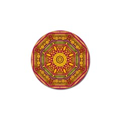 Sunshine Mandala And Other Golden Planets Golf Ball Marker (10 Pack)