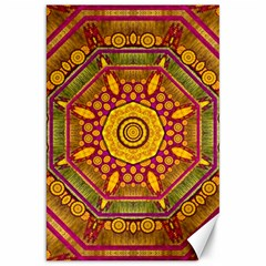 Sunshine Mandala And Other Golden Planets Canvas 20  X 30