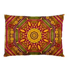 Sunshine Mandala And Other Golden Planets Pillow Case