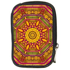 Sunshine Mandala And Other Golden Planets Compact Camera Cases