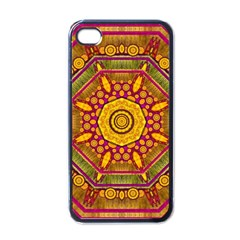 Sunshine Mandala And Other Golden Planets Apple Iphone 4 Case (black)