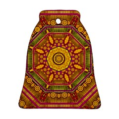 Sunshine Mandala And Other Golden Planets Ornament (bell)