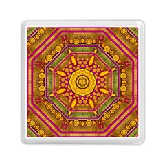 Sunshine Mandala And Other Golden Planets Memory Card Reader (square)