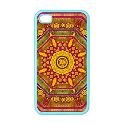 Sunshine Mandala And Other Golden Planets Apple Iphone 4 Case (color)