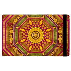 Sunshine Mandala And Other Golden Planets Apple Ipad 2 Flip Case