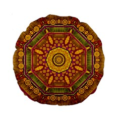 Sunshine Mandala And Other Golden Planets Standard 15  Premium Round Cushions
