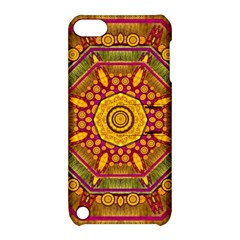 Sunshine Mandala And Other Golden Planets Apple Ipod Touch 5 Hardshell Case With Stand