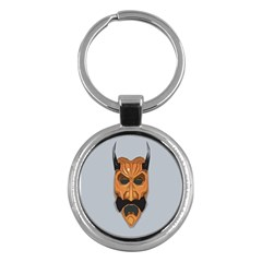 Mask India South Culture Key Chains (round)