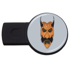 Mask India South Culture Usb Flash Drive Round (4 Gb)