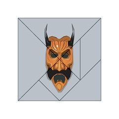 Mask India South Culture Acrylic Tangram Puzzle (4  X 4 )