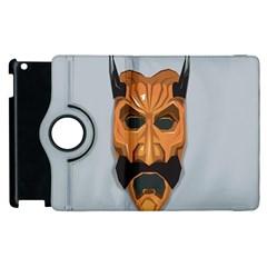 Mask India South Culture Apple Ipad 3/4 Flip 360 Case
