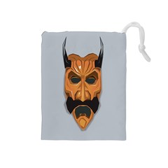 Mask India South Culture Drawstring Pouches (medium)