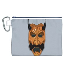 Mask India South Culture Canvas Cosmetic Bag (l)