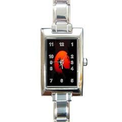 Giraffe Animal Africa Sunset Rectangle Italian Charm Watch