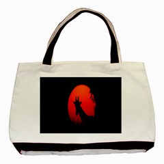 Giraffe Animal Africa Sunset Basic Tote Bag