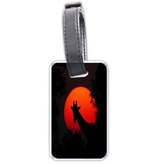 Giraffe Animal Africa Sunset Luggage Tags (two Sides)