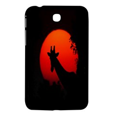 Giraffe Animal Africa Sunset Samsung Galaxy Tab 3 (7 ) P3200 Hardshell Case