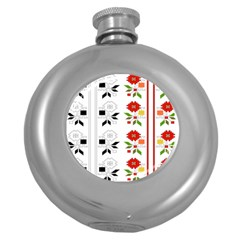 Bulgarian Folk Art Folk Art Round Hip Flask (5 Oz)