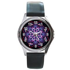 Mandala Circular Pattern Round Metal Watch