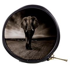 Elephant Black And White Animal Mini Makeup Bags
