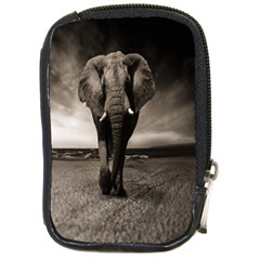 Elephant Black And White Animal Compact Camera Cases