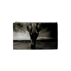 Elephant Black And White Animal Cosmetic Bag (small)