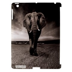Elephant Black And White Animal Apple Ipad 3/4 Hardshell Case (compatible With Smart Cover)