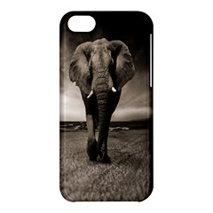 Elephant Black And White Animal Apple Iphone 5c Hardshell Case