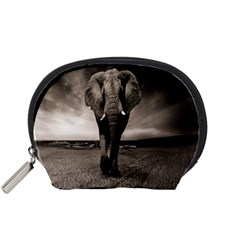 Elephant Black And White Animal Accessory Pouches (small)