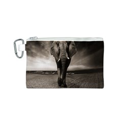 Elephant Black And White Animal Canvas Cosmetic Bag (s)