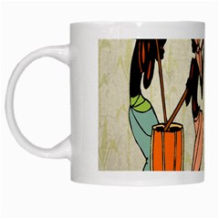 Man Ethic African People Collage White Mugs