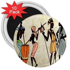 Man Ethic African People Collage 3  Magnets (10 Pack)