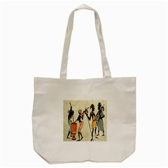 Man Ethic African People Collage Tote Bag (cream)
