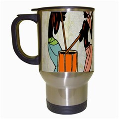 Man Ethic African People Collage Travel Mugs (white)