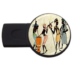 Man Ethic African People Collage Usb Flash Drive Round (4 Gb)