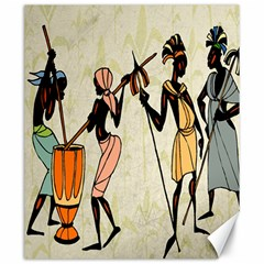 Man Ethic African People Collage Canvas 20  X 24