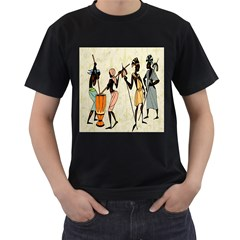 Man Ethic African People Collage Men s T Shirt (black)