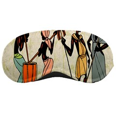 Man Ethic African People Collage Sleeping Masks