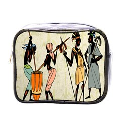Man Ethic African People Collage Mini Toiletries Bags