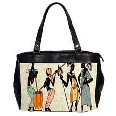 Man Ethic African People Collage Office Handbags (2 Sides)