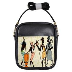 Man Ethic African People Collage Girls Sling Bags