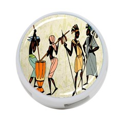 Man Ethic African People Collage 4 Port Usb Hub (one Side)