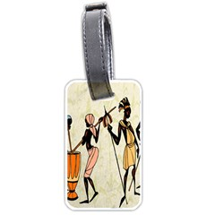 Man Ethic African People Collage Luggage Tags (one Side)