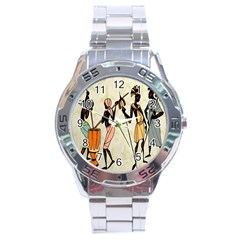 Man Ethic African People Collage Stainless Steel Analogue Watch