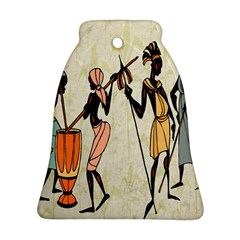 Man Ethic African People Collage Ornament (bell)