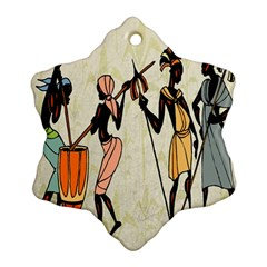 Man Ethic African People Collage Snowflake Ornament (two Sides)