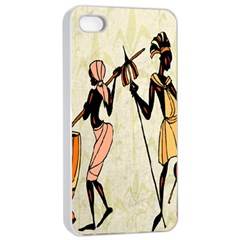 Man Ethic African People Collage Apple Iphone 4/4s Seamless Case (white)