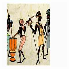 Man Ethic African People Collage Small Garden Flag (two Sides)