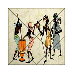 Man Ethic African People Collage Acrylic Tangram Puzzle (6  X 6 )